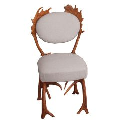 No Footsie Antler Dining Chair Grey